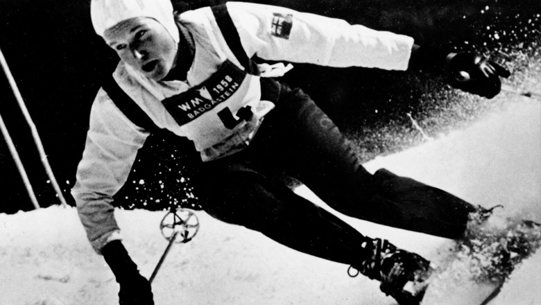 Lucile Wheeler skiing