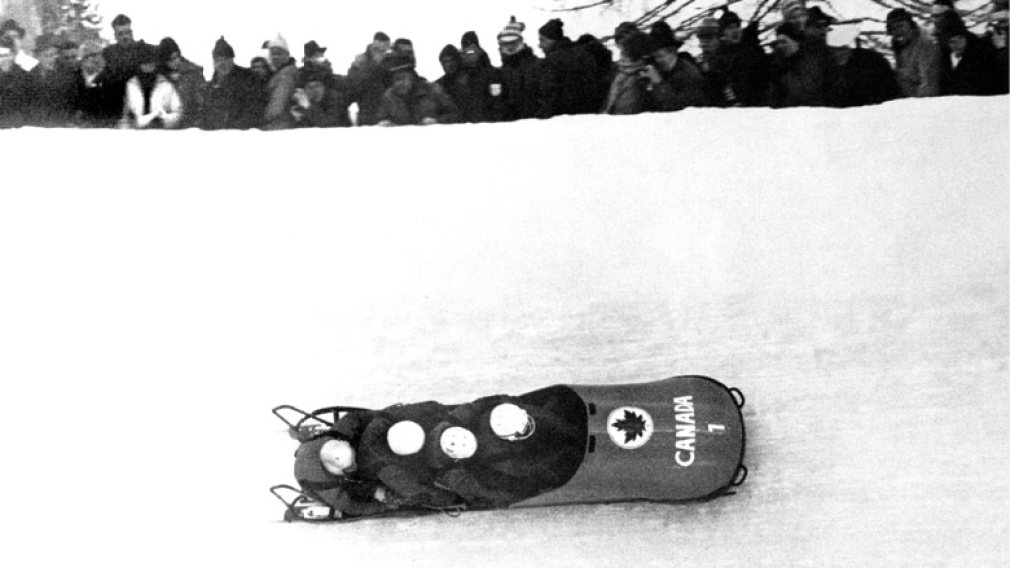Canada participating in bobsleigh at the 1964 Innsbruck Winter Olympic Games