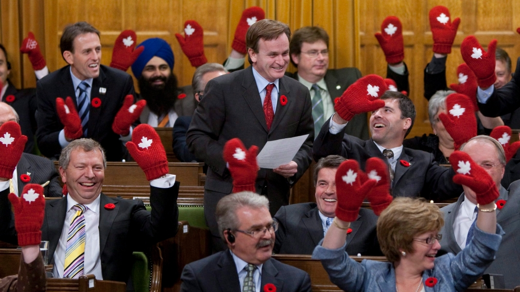 As Red Mittens Fly off Shelves, Olympic Spirit Builds