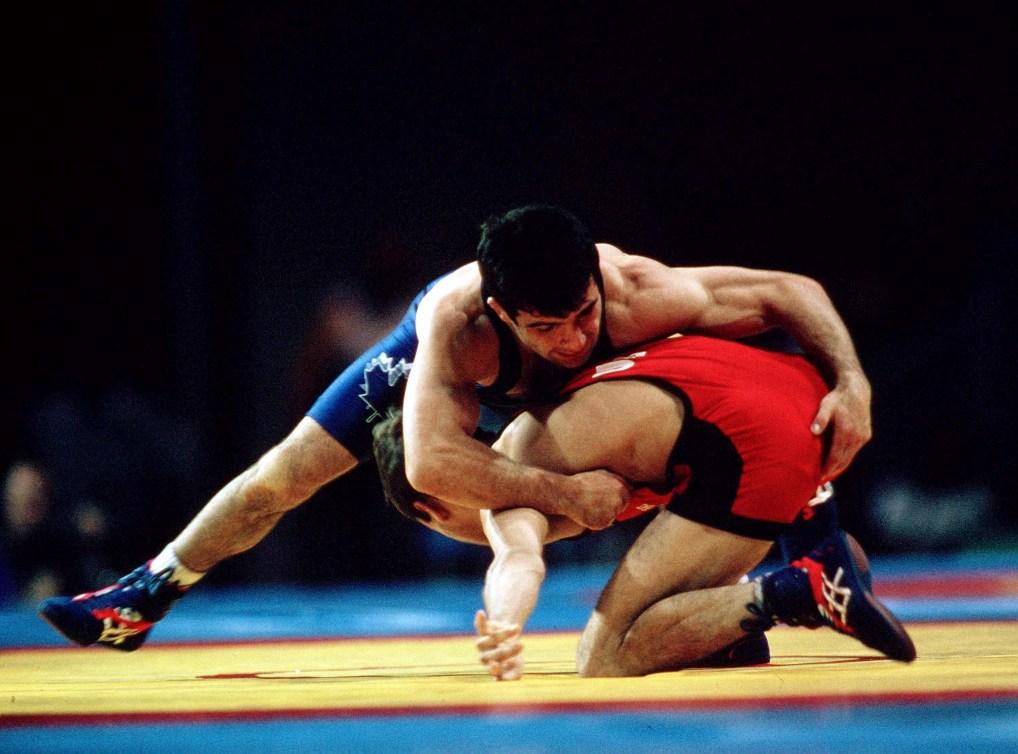 Guivi Sissaouri wrestling