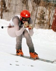 Steve Podborski races downhill