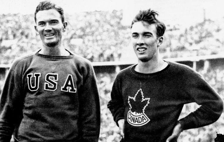Canada's John Loaring (right) participates at the 1936 Berlin Olympics, where he won a silver medal in the 400m hurdles event. (CP Photo/COC)
