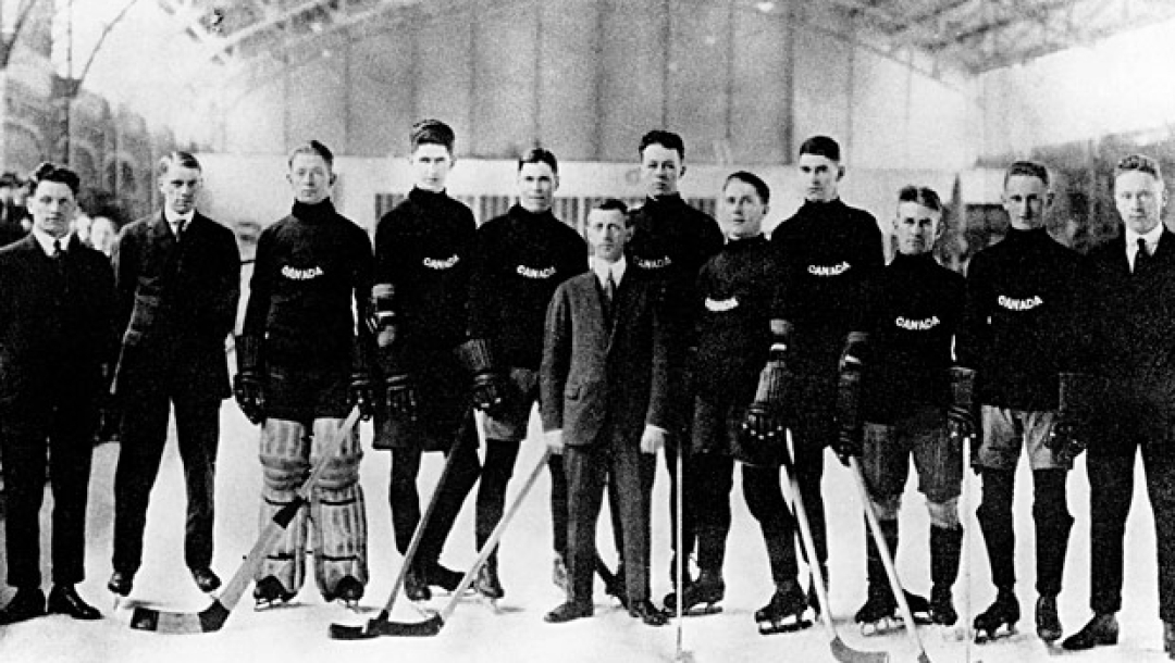 The Winnipeg Falcons represented Canada and won the first-ever gold medal in ice hockey at the 1920 Olympic Games in Antwerp, Belgium.