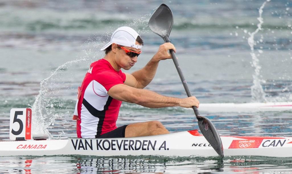Adam van Koeverden kayaking