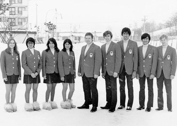 Canada's ski team participates at the Sapporo 1972 Olympic Winter Games. (CP Photo/COC)