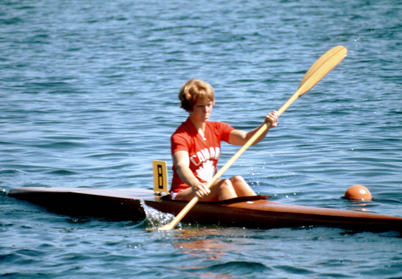 Sue Holloway in kayak