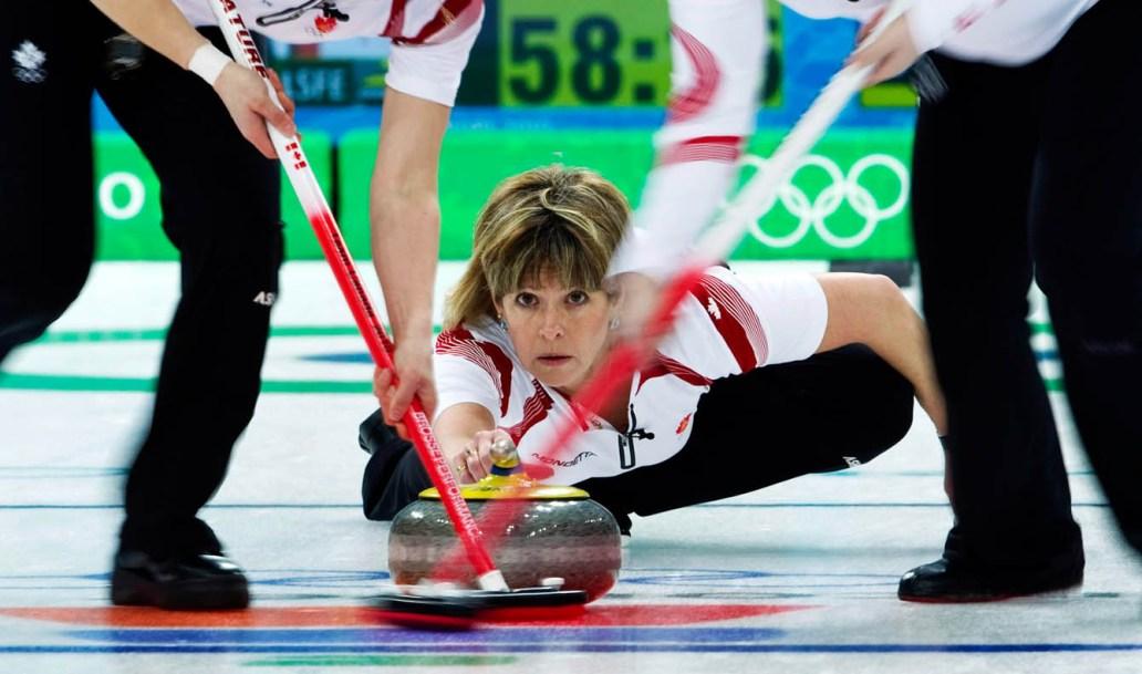 Watching rock get swept in curling