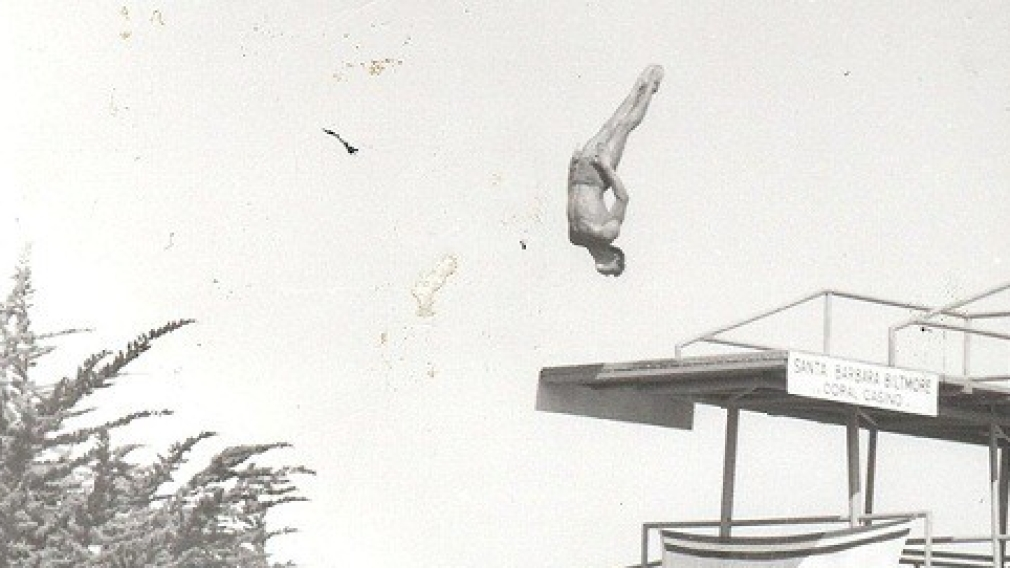 George Athans executing a dive