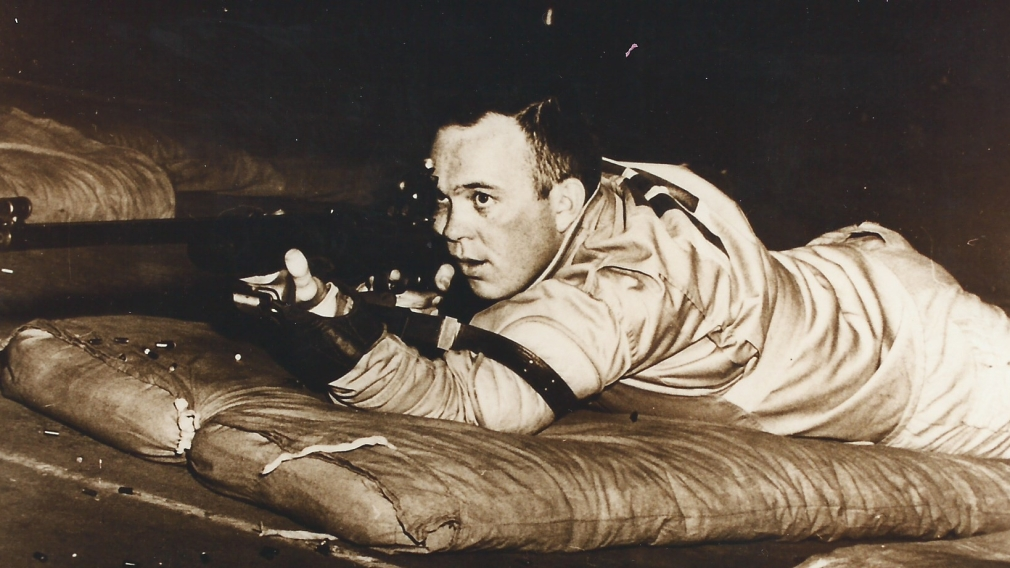 Gerald Oullette competing in shooting