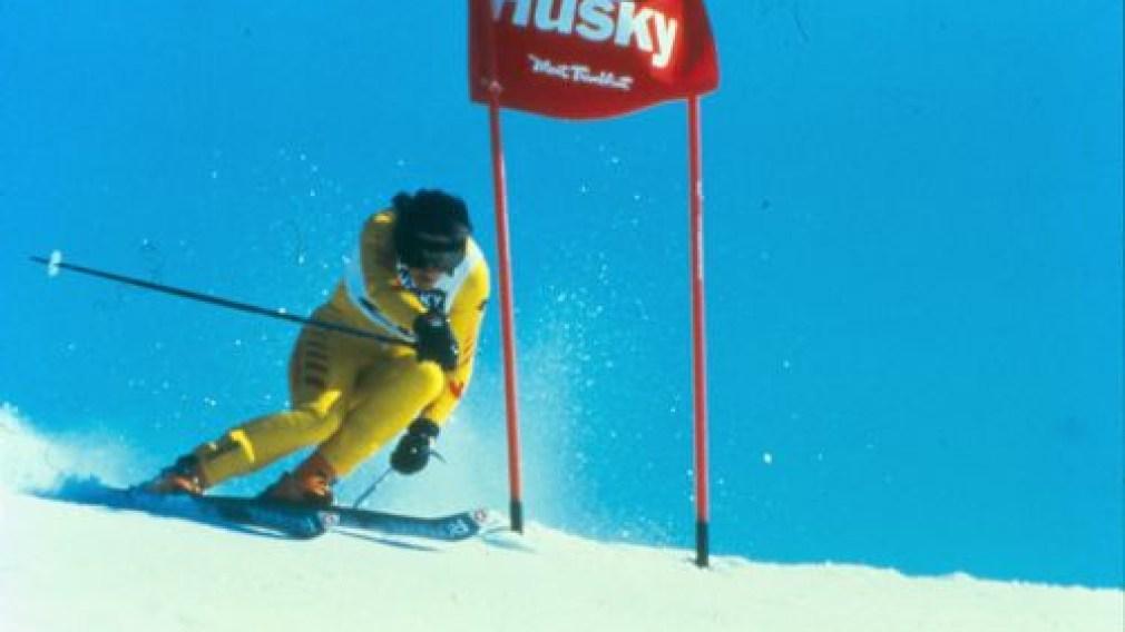 Gerry Sorensen skiing for Canada