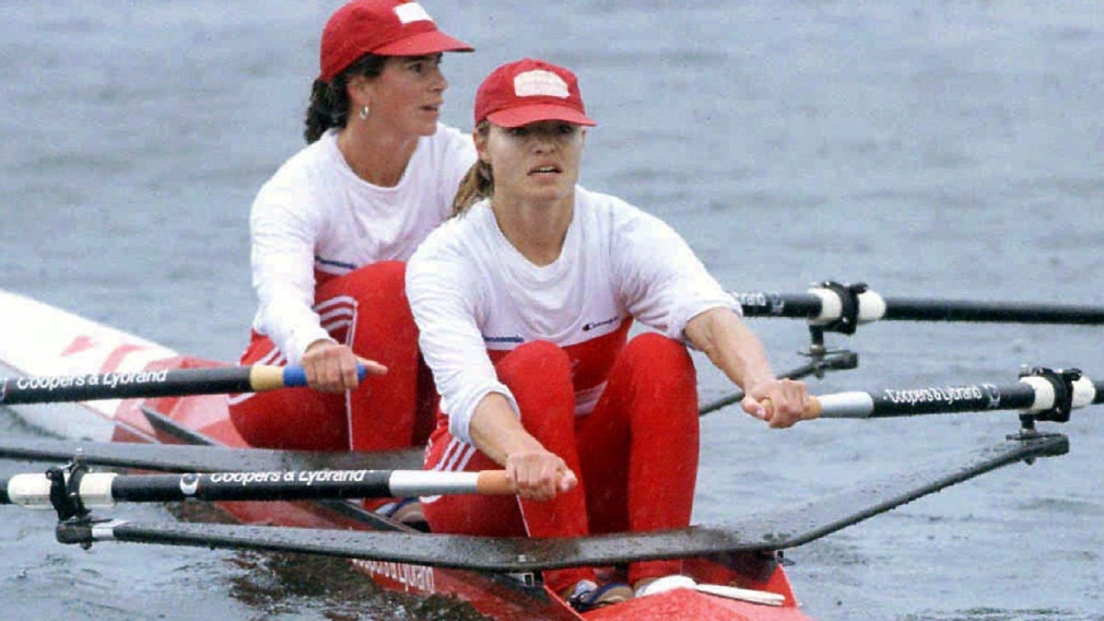 Heddle with a teammate rowing