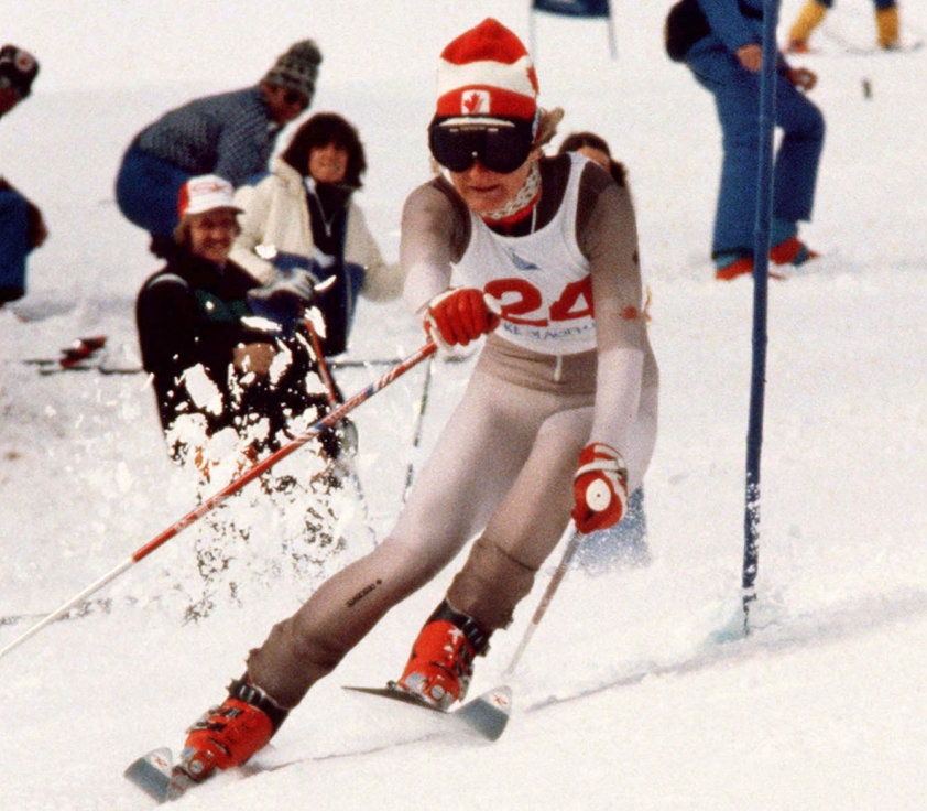 Canada's Kathy Kreiner competes in alpine skiing at the Lake Placid Olympic Winter Games. (CP PHOTO/ COC)