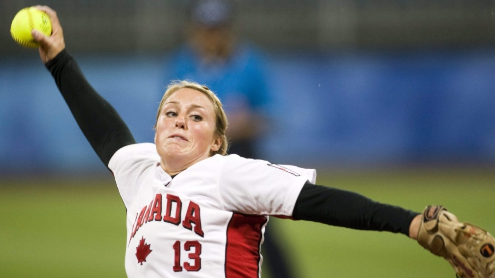 Danielle Lawrie winds up before throwing