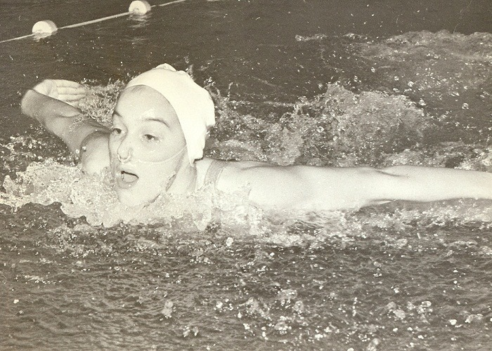 Mary Stewart McIlwaine swimming for Canada