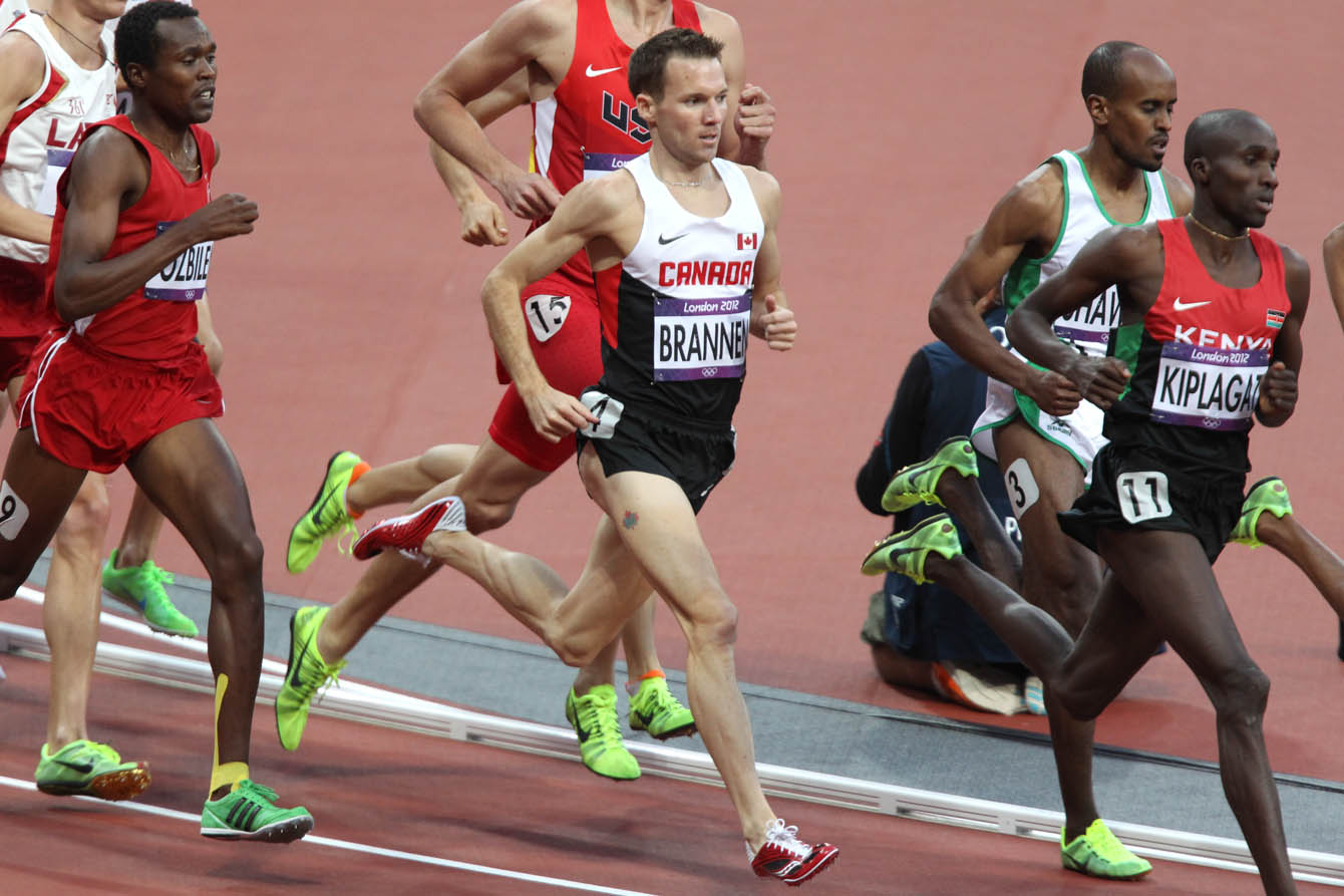 Nate Brannen of Cambridge, Ont. in the 1500-metre semi-final at the 2012 London Olympics
