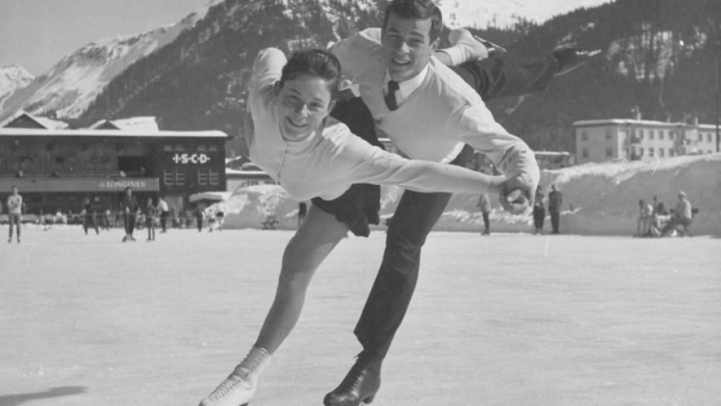Otto Jelinek skates with Maria Jelinek