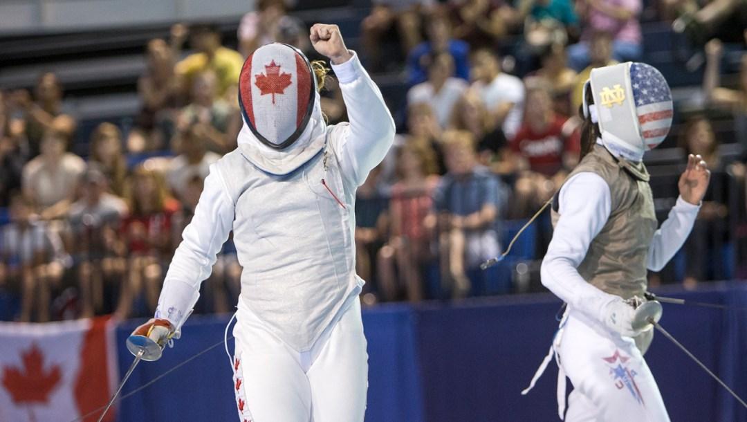 Kelleigh Ryan 2015 Pan AM Games Foil Match Fencing