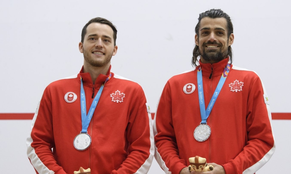Shawn delierre and Nick Sachvie wearing medals