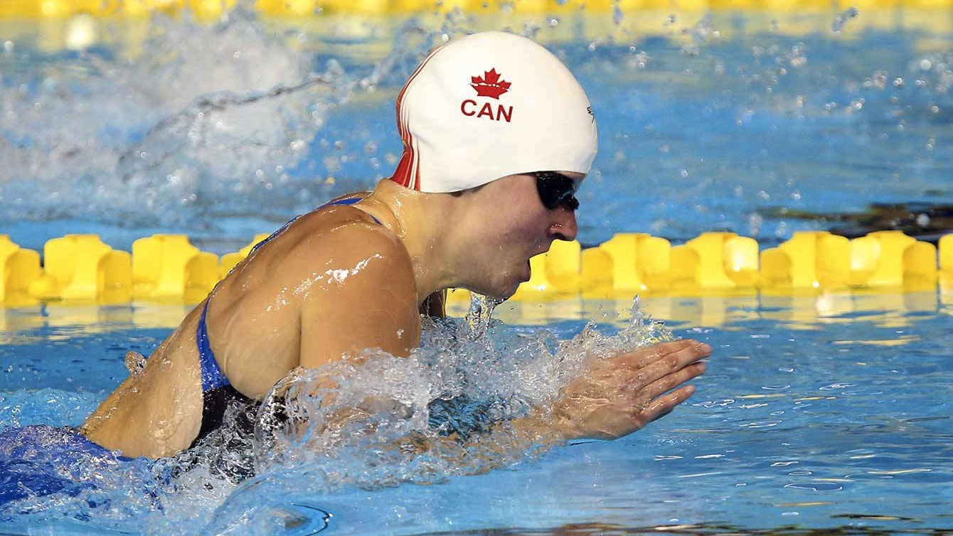 Martha McCabe swims at the 2015 Pan Am Games in Toronto.