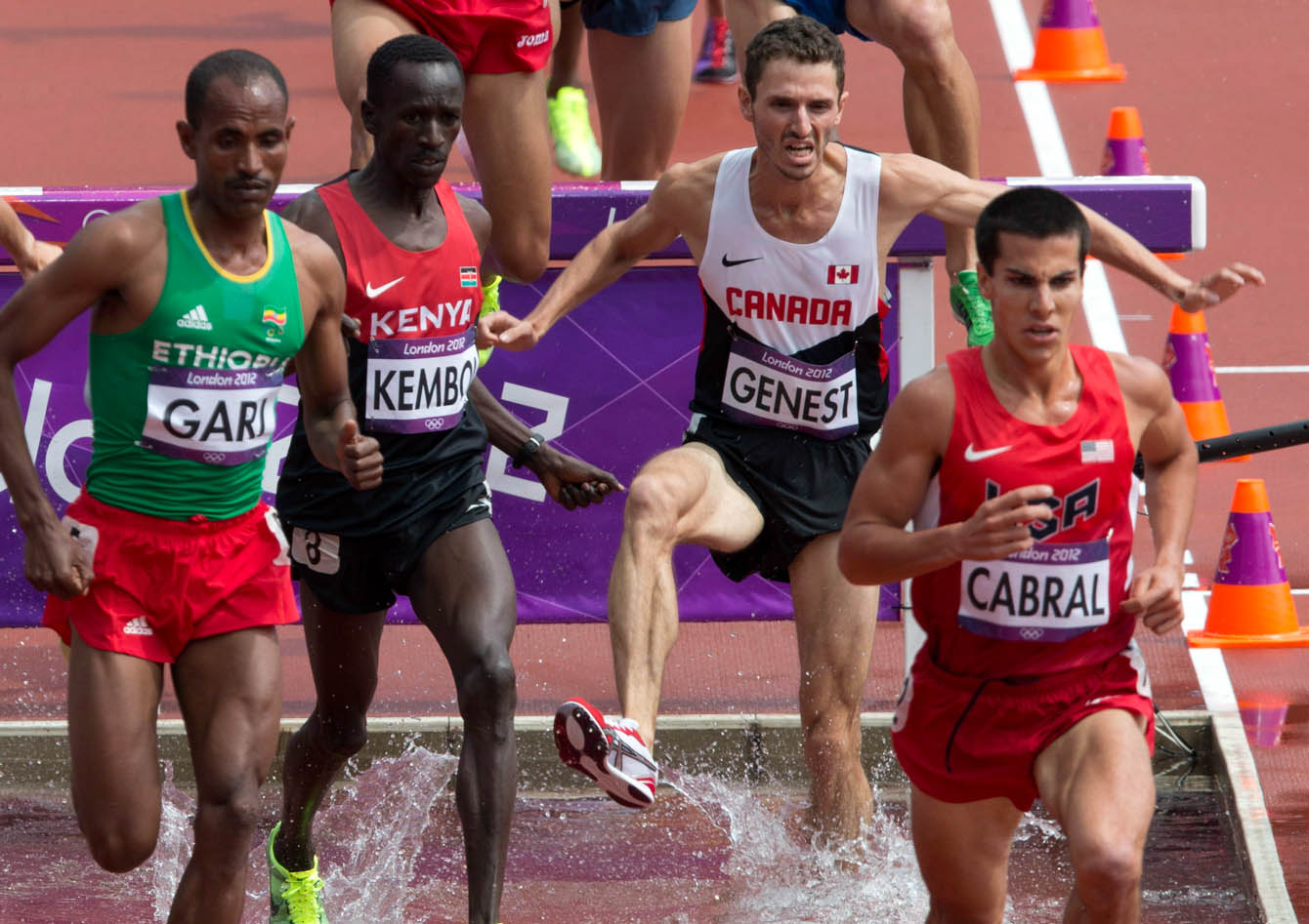 Alex Genest in the London 2012 Olympic steeplechase.
