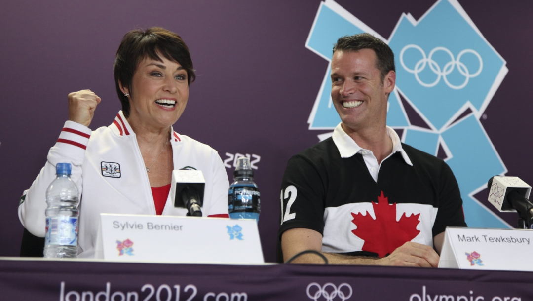 Team Canada Sylvie Bernier Mark Tewksbury