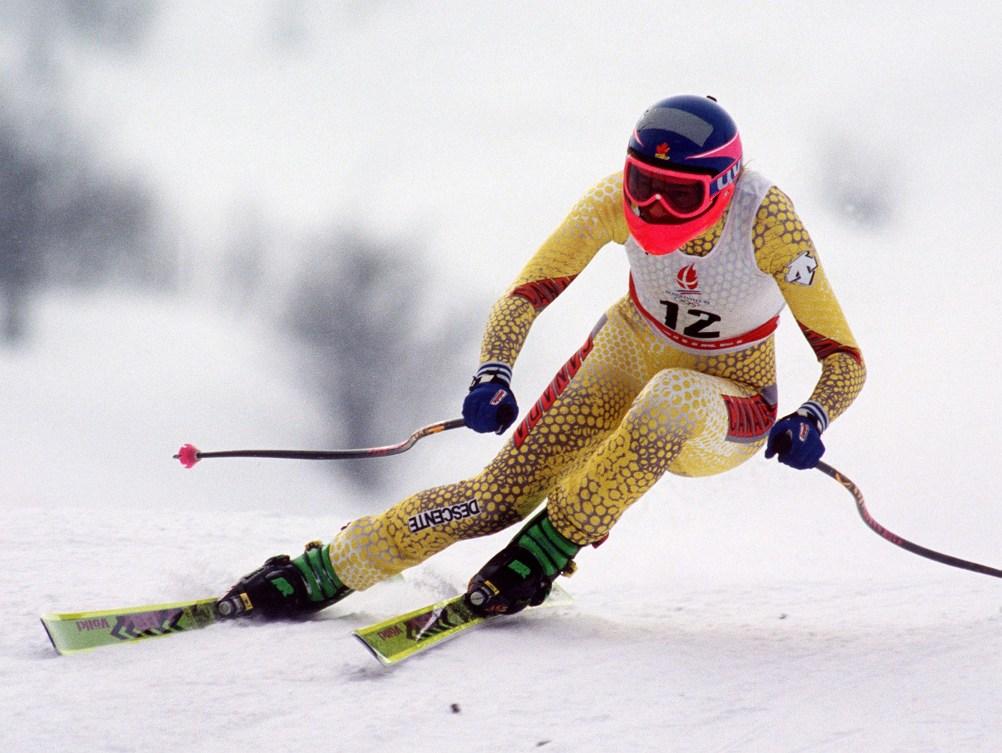 an olympian skiing