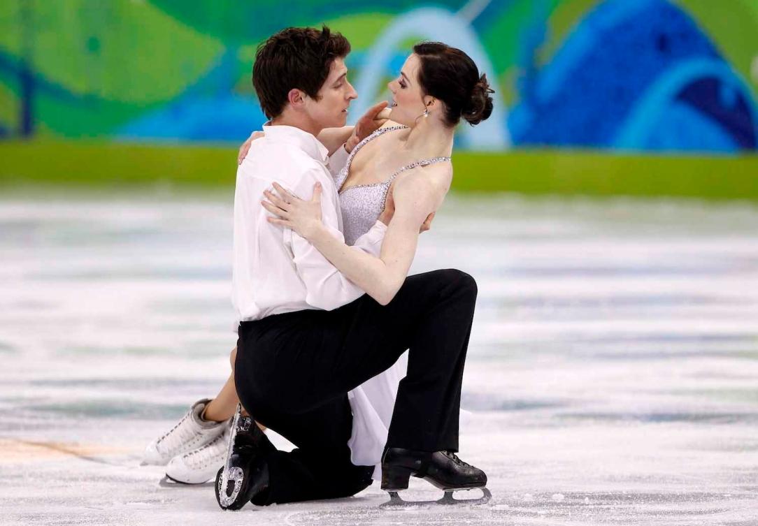 Tessa Virtue and Scott Moir figure skating