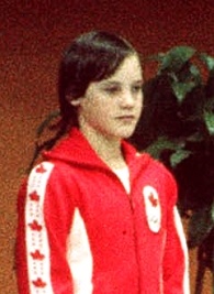 Robin Corsiglia on the podium at the Montreal 1976 Olympic Games