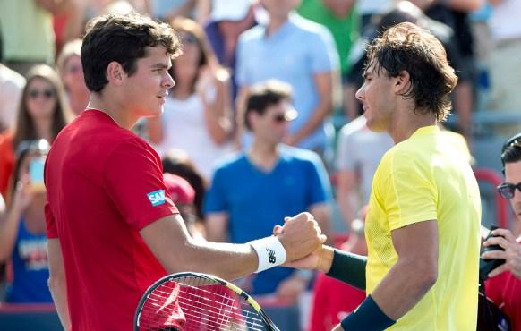 Milos Raonic + Rafael Nadal