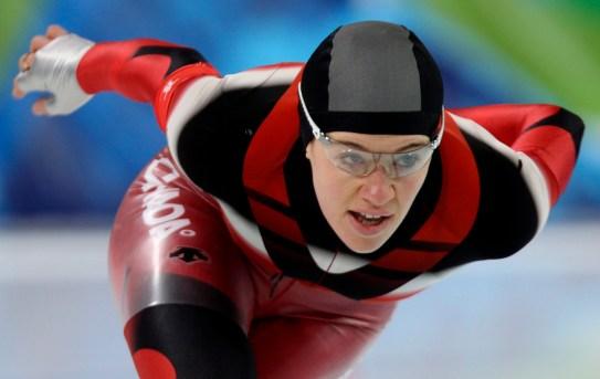 Clara Hughes skating