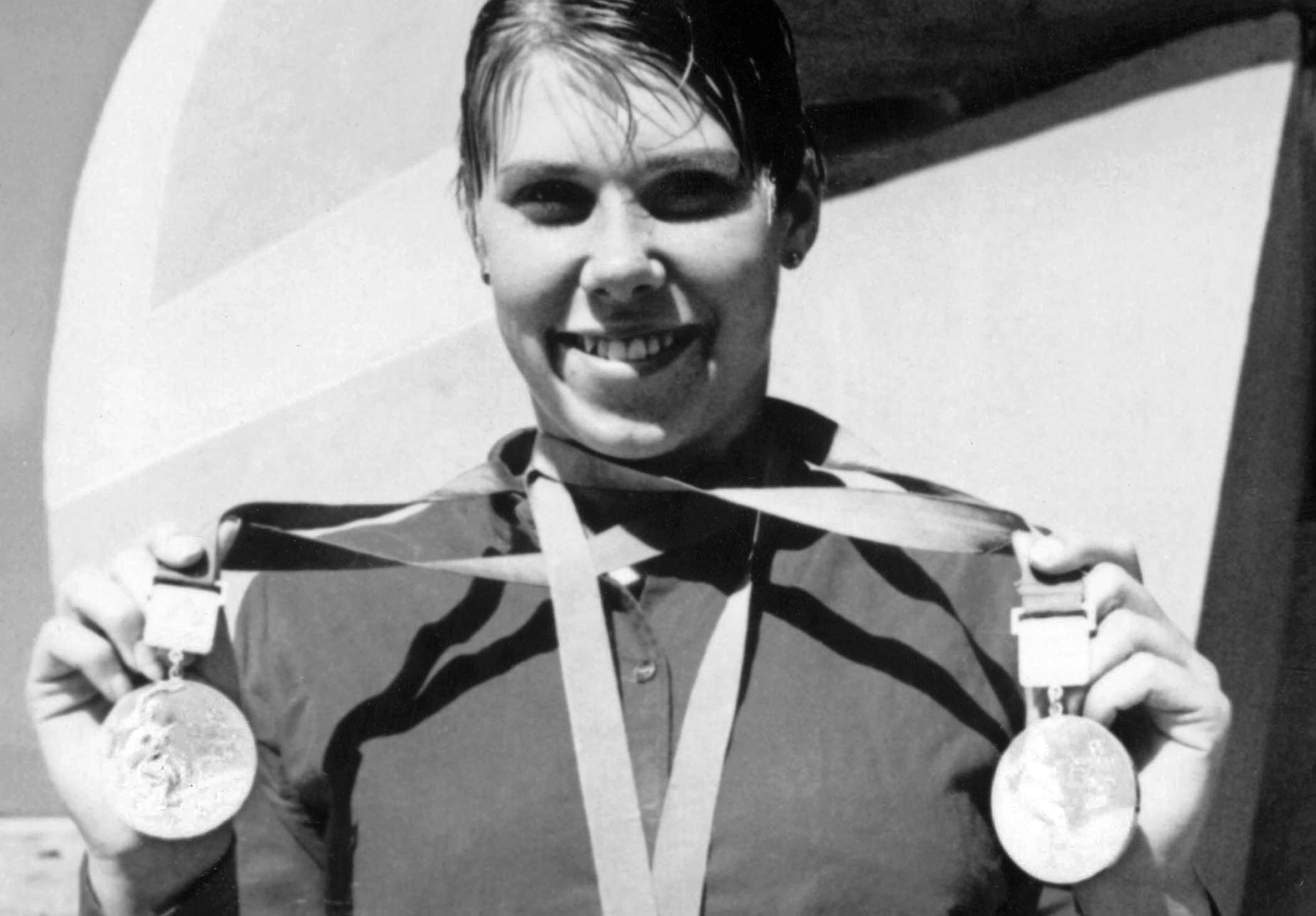 Elaine Tanner winner of two medals in the Women's swimming event at the 1968 Olympic Games in Mexico City, Mexico. (CP PHOTO/COC)