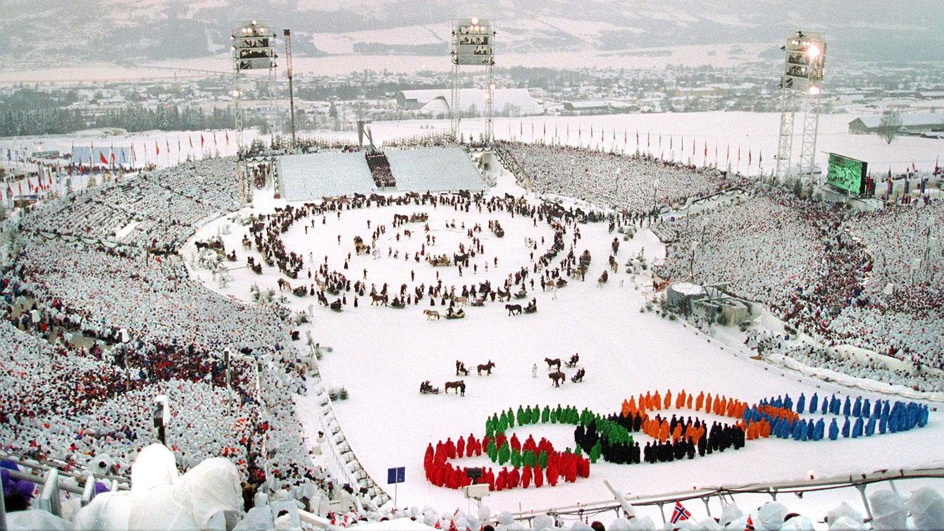 Opening ceremonies, Lillehammer 1994.