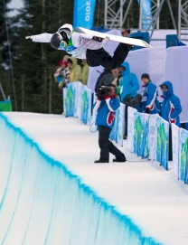 Mercedes Nichol is seen during qualification at Vancouver 2010