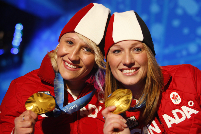 Kaillie Humphries,Heather Moyse ,Helen Upperton ,Shelly-Ann Brown
