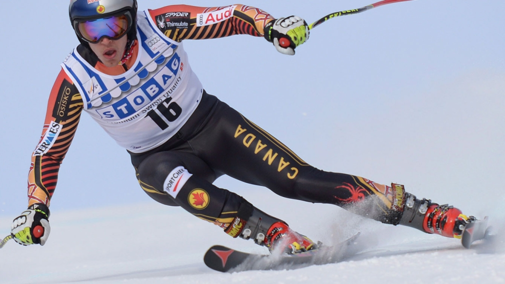 Guay rules downhill race in Italy