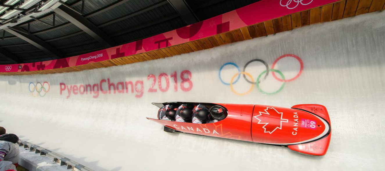 Bobsleigh racing by PeyongChang sign in event
