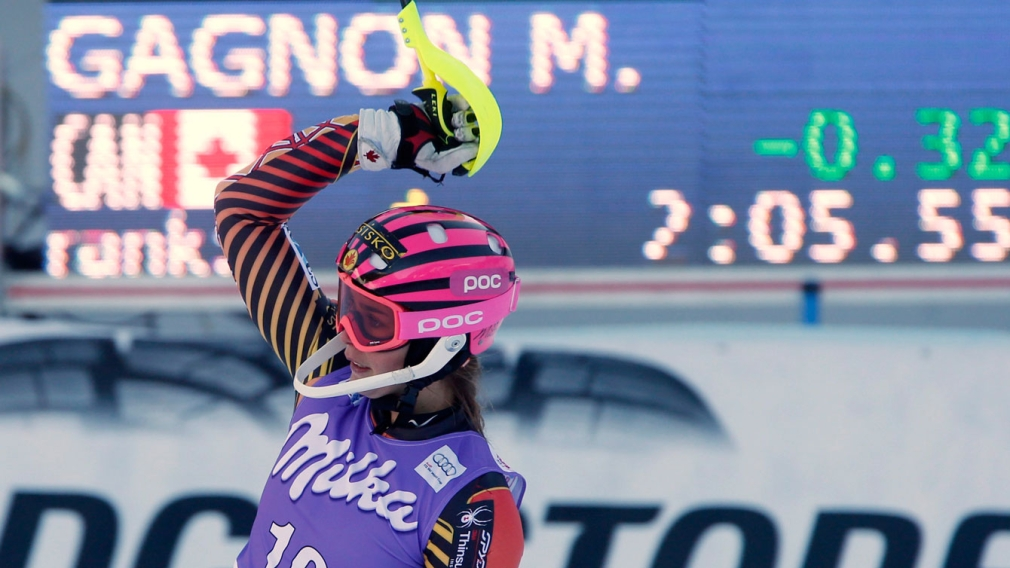 Gagnon skis into Canadian record books