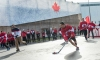 Game on! Canada vs. USA street hockey breaks out in Sochi