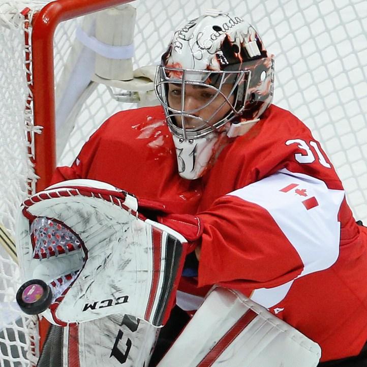 Carey Price makes a glove save