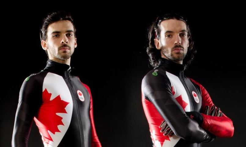 Hamelin brothers posing for Team Canada picture