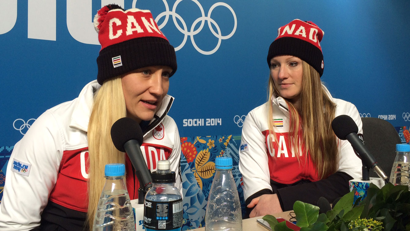 Kaillie Humphries & Heather Moyse at Sochi 2014