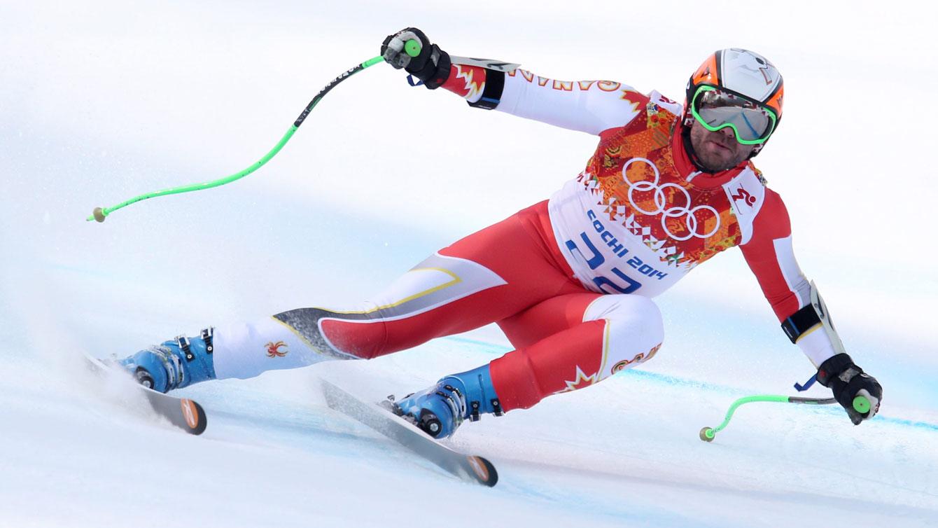 Jan Hudec races towards a bronze medal at Sochi 2014.