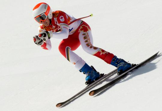 Marie-Michele Gagnon competing in the women's downhill at Sochi 2014 (Photo: CP)