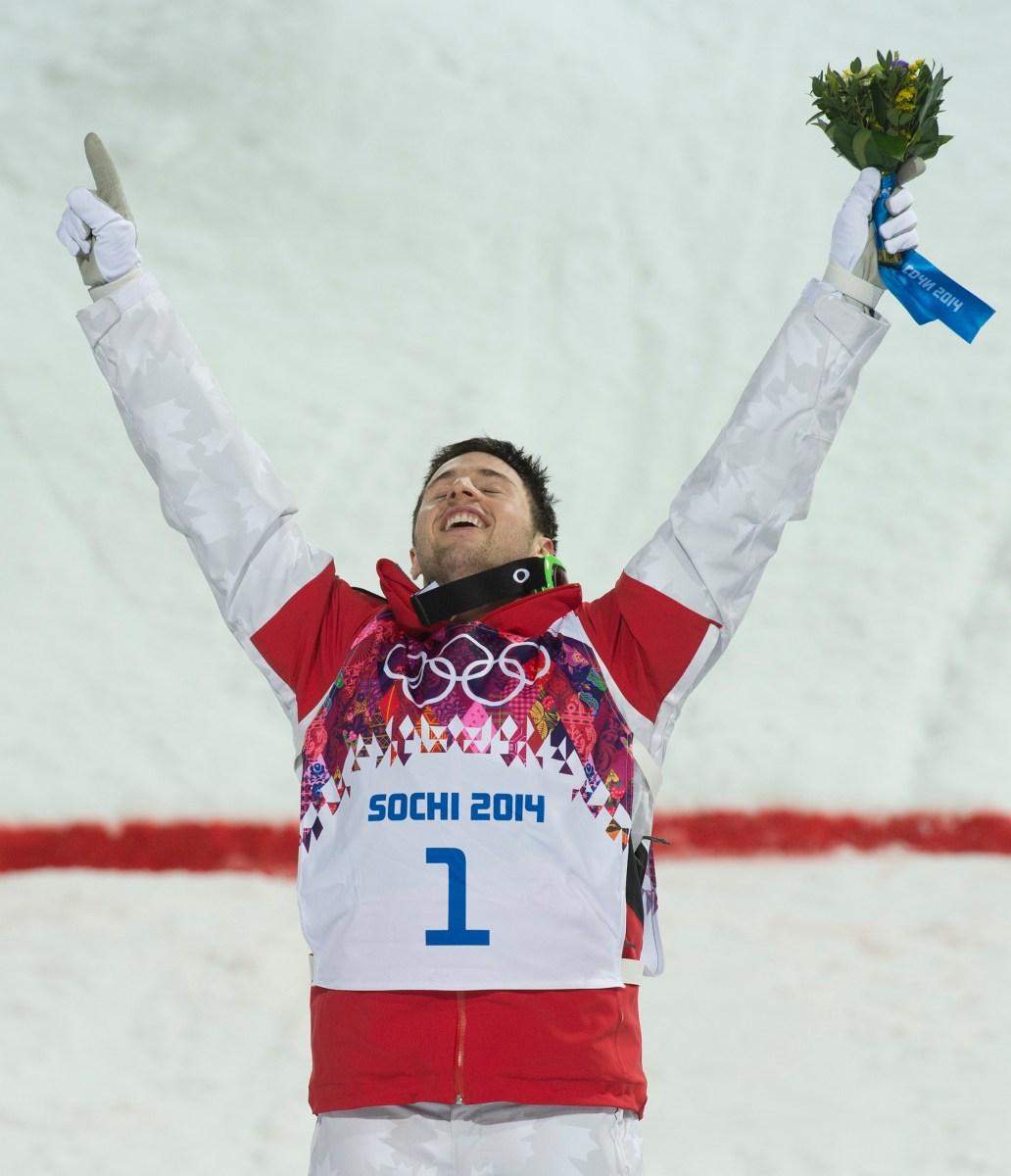 Bilodeau on the podium
