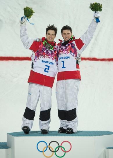 Kingsbury and Bilodeau on the podium