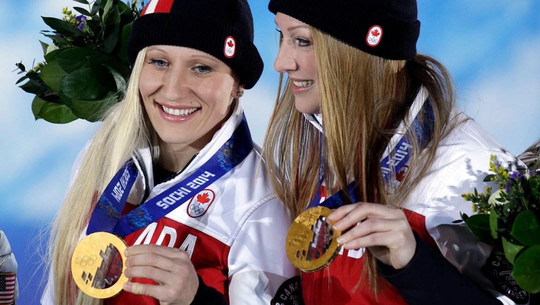 Sochi Olympics Medals Ceremony Bobsleigh Women