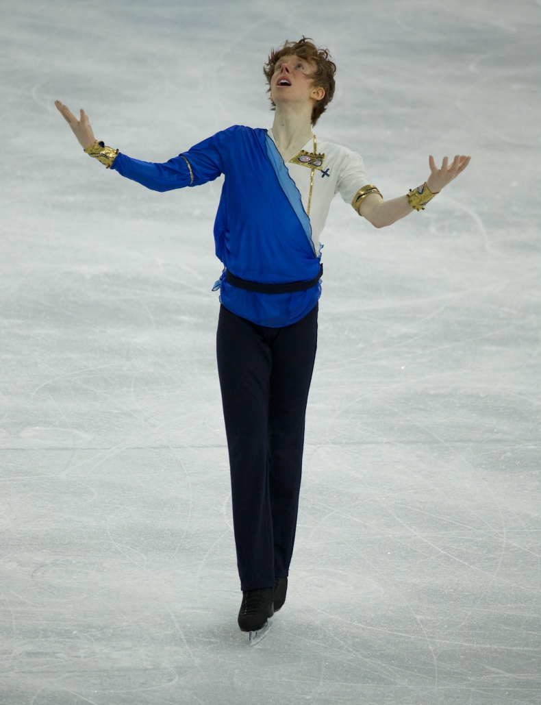 Kevin Reynolds during his team event performance.