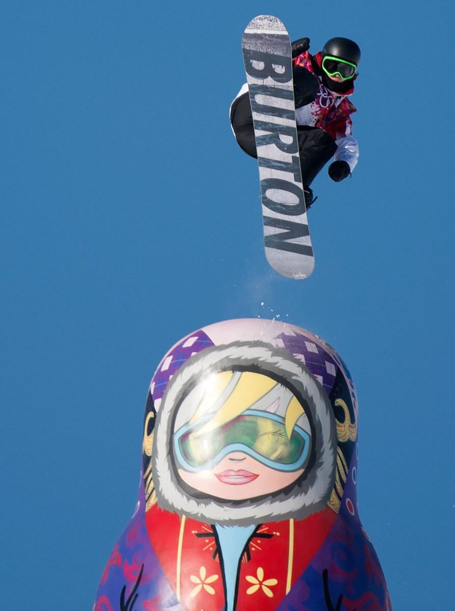 Mark McMorris in the air