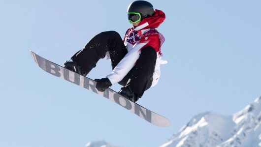 Mark McMorris during the slopestyle competition in Sochi.