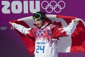 McMorris celebrates his bronze medal win